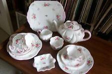 "Shelley - ""Rose and Red Daisy"" Tea Set - #13425 - Dainty Shape"