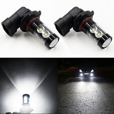 2 Pcs 50W H10 6000K 9145 9005 HB3 LED CREE Super Bright White Fog Lights Bulbs