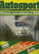Autosport Nov 29th 1984 *National Rally Review & RAC*