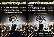 2 X JAMIROQUAI TOUR FLYERS - ROCK DUST LIGHT STAR TOUR