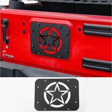 For Jeep Wrangler JK JKU Spare Tire Carrier Delete Filler Plate Five Starl black