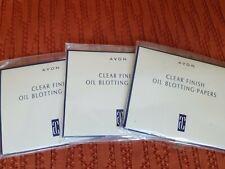 Lot of 3 Avon Clear Finish Oil Blotting Papers Nip