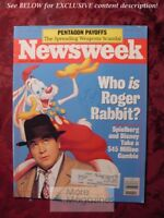 NEWSWEEK June 27 1988 ROGER RABBIT Pentagon Markets Soviet Union Psychoanalysis