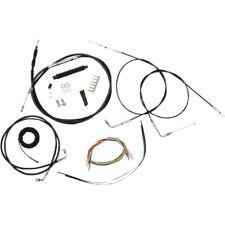 "La Choppers Complete Black Vnyl Cable Line 18""-20"" Kit Harley 12-15 FXDB/C"