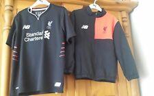 New Balance Liverpool training track top+ shirt  size 6 /7  years
