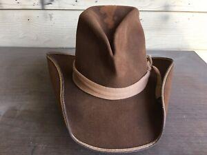 Rugged Vintage Antique Old West Cowboy Hat 7 1/4 SASS John Wayne Gus Western