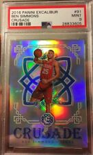 Ben Simmons Rookie Refractor Prizm Silver Excalibur Crusade 2016 Mint 9 PSA ROY