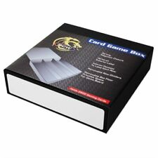 More details for gaming card game storage box, black & white, holds 2800 cards