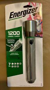 Energizer Rechargeable LED Flashlight 1200 LUMENS Strobe Light NEW FAST SHIPPING