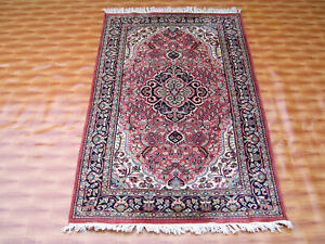 Area Rug Oriental Carpet Hand Knotted Pink Color Living Room Turkish Rugs 3'x5'