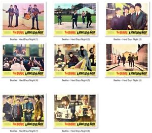 THE BEATLES - A HARD DAY'S NIGHT : Reproduction Art Print-Out Movie LOBBY CARDS