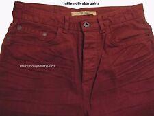 New Mens Marks & Spencer Orange Straight Jeans Waist 32 Leg 29