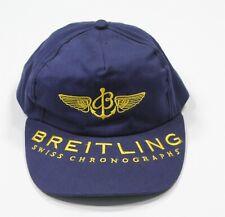 Breitling Vintage Suisse Chronographes Bleu/Jaune Casquette Ajustable Rare