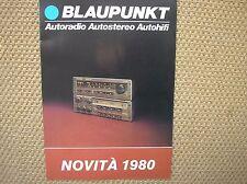 BLAUPUNKT NOVITA 1980 AUTO STEREO AUTORADIO HIFI CAR SALES BROCHURE PROSPEKT
