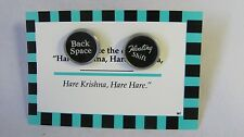 "Mens Custom Vintage Typewriter Key Black & White Cufflinks, ""BACK SPACE, FLOATIN"