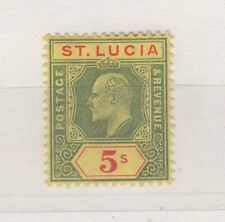 More details for st lucia kevii 1904 5/- sg77 mh j6492