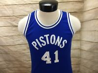 Don Alleson Athletic Jersey Basketball Blue Pistons Men's M