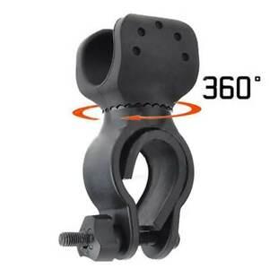 360°MTB Fahrrad Taschenlampe Halterung Licht Beleuchtung drehbar Halter Klemme