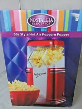 Hot Air Popcorn Popper Retro 50s Style Red NOSTALGIA ELECTRICS # RHP310 NIB