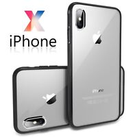 Shockproof PC TPU Hybrid Slim Clear Back Case Cover for iPhone X 8 7 6 6S Plus