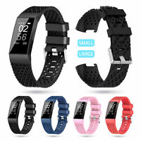 Replacement Sports Silicone Watch Band Wristband Strap for Fitbit Charge 3