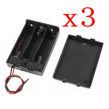 3PCS 3AA 4.5V Battery Holder with Bare Wire Ends ON/OFF Toggle Switch Box Cover
