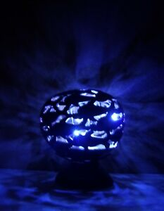 Unusual Hand Carved Coconut Lamp Dolphin Family Design Coconut Shell LED Lamp