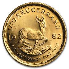 1982 südafrika 1/10 oz kruegerrand gold bu-sku #95247