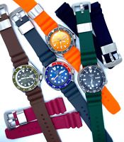 22mm Rubber Silicone Watch Strap Diver Band fits SEIKO Prospex Turtle 5 Watches