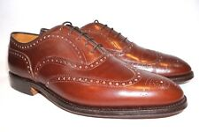 CHURCH'S English Men Dress Shoes Size 10 D Custom Grade Wing Tip Brown Leather