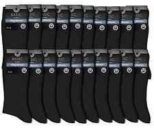 5 bis 40 Paar Gesundheitssocken Herren Socken ohne Gummi 100 Pro Baumw schwarz