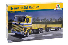 Italeri 770 1/24 Scale Tractor Truck Model Kit Scania 142M V8 Flat Bed 2 Series