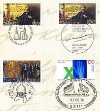 BRD 1995:  Alfred Nobel Nr. 1828 + Parallelausgaben + Nr 1784! 1A! 1807