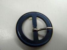 mercerie boucle ceinture confection robe article neuf  bleu nuit 4.5 cm lot 181
