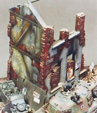 Verlinden 1/35 City House Section Ruin WWII [Plaster Diorama] 100 (MDA 35005)