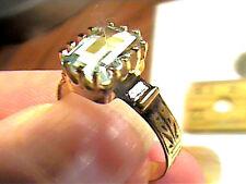 AQUAMARINE AQUA ring 7  ANNIVERSARY SOLITAIRE STERLING 925 natural real small
