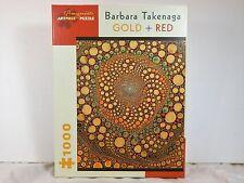"A PREMIUM QUALITY POMEGRANATE ARTPIECE PUZZLE ""GOLD & RED"" by BARBARA TAKENAGA"