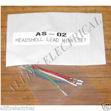 Audio Turntable Headshell Cartridge Wires (Set of 4) - Part # AS-02 - Free Post!