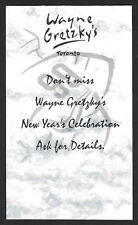 """1990s Wayne Gretzky's Restaurant, New Year's Party """"Table Talker"""" 5x7"""