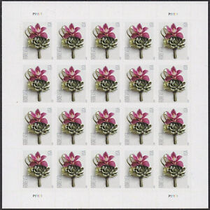 100 USPS FOREVER STAMPS, 5 Sheets of 2020 Boutonniere First Class Mail Postage!!