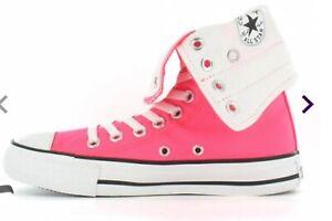 Rare Converse Bright Pink fold down X Hi top all stars UK 6 EUR 36 Men UK 4 £75