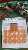 Tri-ang Hornby Battle Space Logo Repro Decal Stickers pre-cut peal & stick.