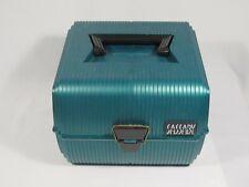Vintage Sassaby Makeup Case #102 Green Hard Train Travel Box w/ Mirror