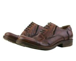Men Retro Dress Formal Real Leather Shoes Business Work Oxfords Lace up Casual L