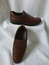 PAVERS CONKER BROWN LEATHER MENS SLIP ON SHOES SIZE EU 41/UK 7.5 WORN ONCE