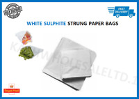 White Sulphite Strung Paper Bags Food Sandwich Grocery Gift Retail