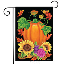 "Bountiful Harvest Fall Garden Flag Pumpkin Autumn Sunflowers 12.5"" x 18"""