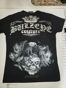 Bulzeye Black label Graphic T-shirt Courage, Large,.
