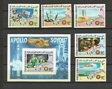 Cosmos Soyouz Apollo Mauritanie 344/5+A161/3+ BF 13 Non Dentelés