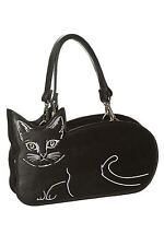Banned Kitty Kat Black Cat Familiar Feline Handbag